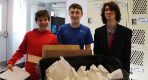 Wolf students help with our school-wide popcorn sale