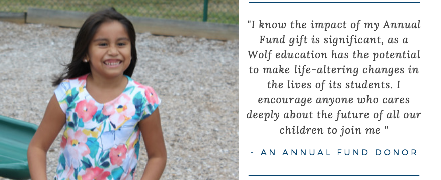 Donate now to The Wolf School Annual Fund