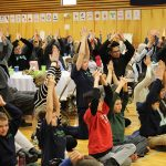 Families join students in a mindful minute