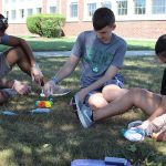 It was a colorful afternoon as students had fun tie-dying!