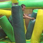 Students had a blast trying to make their way through the obstacle course!