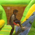 A Wolf student takes on the obstacle course!