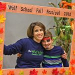 Anna Johnson, Head of School, at The Wolf School's first Fall Festival!