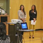 Lise Faulise, MS, OTR/L, BCP introduces (left to right) Becca Olivo, Kristyn Sequeira, and Marci Haines
