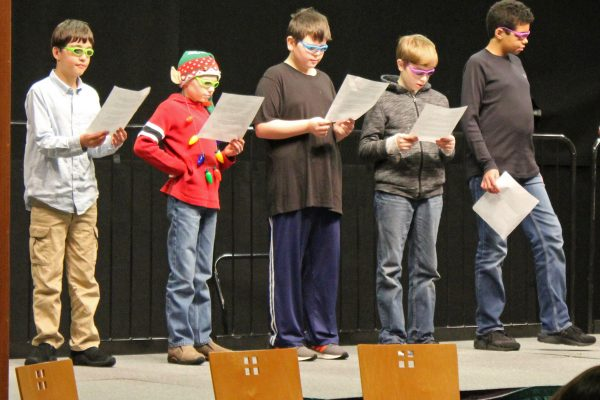 Room 5 students perform an original blues song!