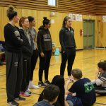 Brown University Women's Basketball team players visit The Wolf School!