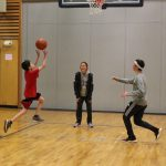 Wolf students practice shooting and rebounding