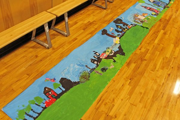 Room 3's completed mural