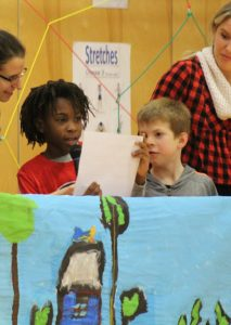Room 3 student with mural