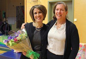 Anna Johnson with Board President, Tamara McKenney