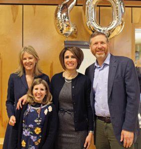 Anna Johnson with Mark, Katherine, and Sarah Pelson.