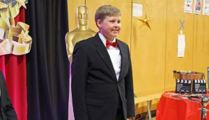 Our guests stopped by to get their photo taken at our Oscar themed backdrop!